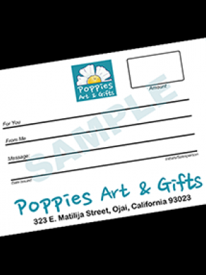 Poppies Gift Certificate