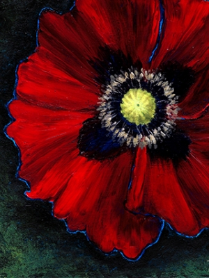 """Holly Woolson """"Red Poppy I"""""""