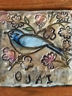 "Renee Clark ""Ojai Bird Coaster"""