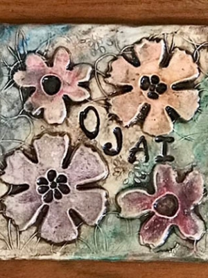 "Renee Clark ""Ojai Flower Coaster"""