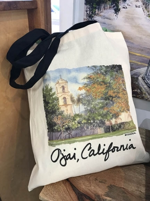 """Colleen McDougal """"Fall Color Post Office Tower Tote Bag"""""""
