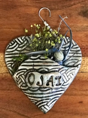"Renee Clark ""Heart with Dried Flowers"""