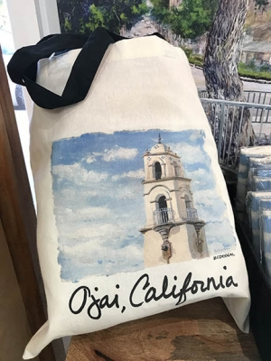 """Colleen McDougal """"Ojai Post Office Tower Tote Bag"""""""